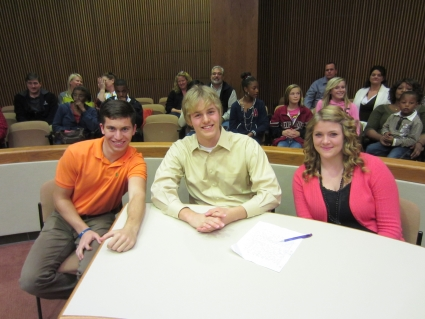 Teen Attorneys Steve Crenshaw, Jacob Hill, and Samantha Thacker